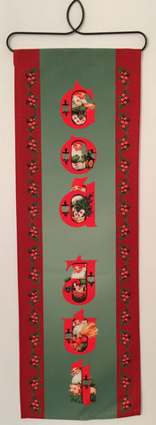 Christmas God Jul Tomte Fabric wall hanging