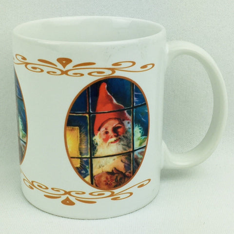 Tomte in the window coffee mug
