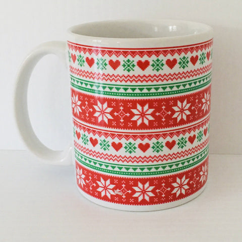 Nordic knit design coffee mug