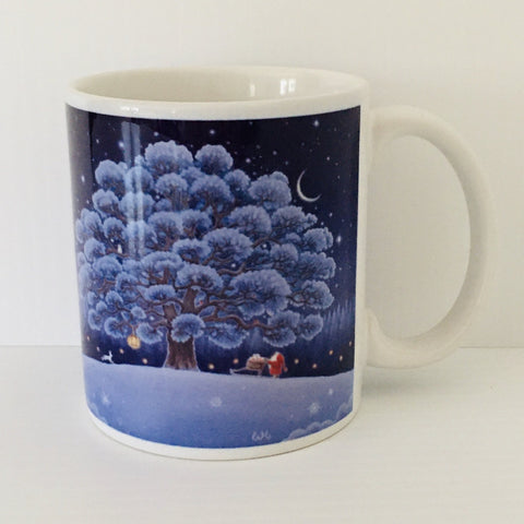 Eva Melhuish Winter tree coffee mug