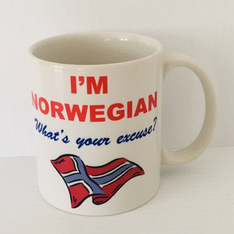 I'm Norwegian What's Your Excuse coffee mug