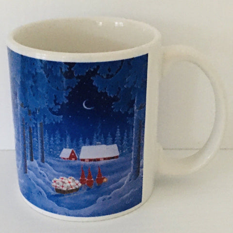 Eva Melhuish Three gnomes coffee mug