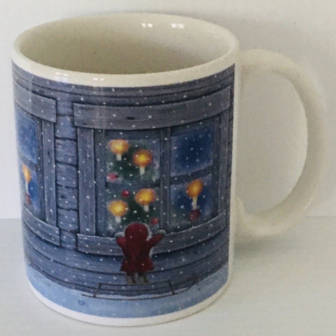 Eva Melhuish Tomte in window coffee mug