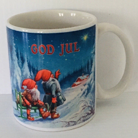 Blue Sky God Jul coffee mug