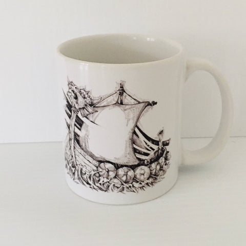 Micah Holland Viking Ship coffee mug