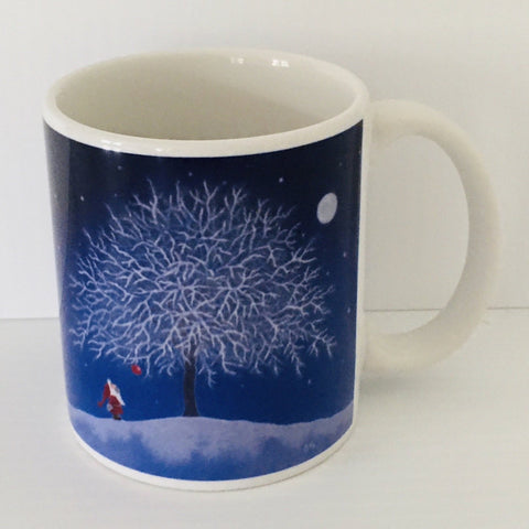 Eva Melhuish Winter apple coffee mug