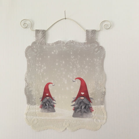 Lace Wall Hanging - Gnomes