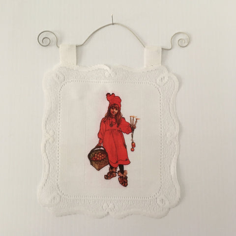 Lace Wall Hanging - Carl Larsson apple girl