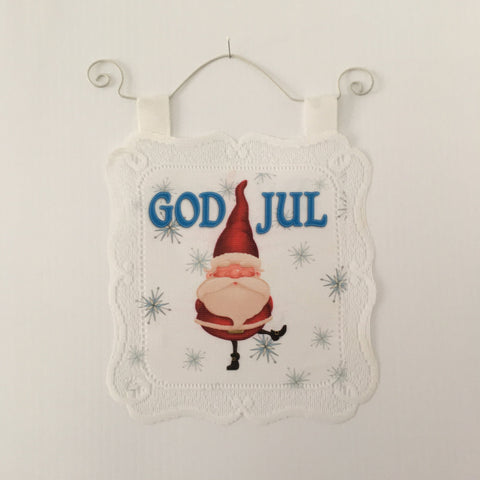 Lace Wall Hanging - God Jul gnome