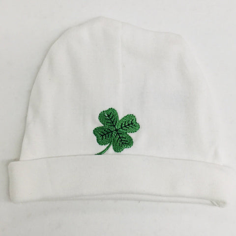 Infant beanie hat with Shamrock