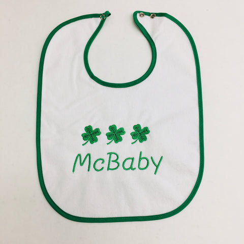 Baby Bib, McBaby on Green