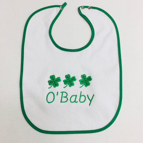 Baby Bib, O'Baby on Green