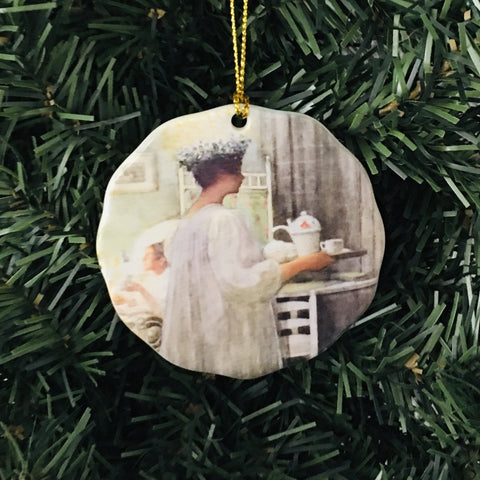 Ceramic Ornament, Carl Larsson Lucia