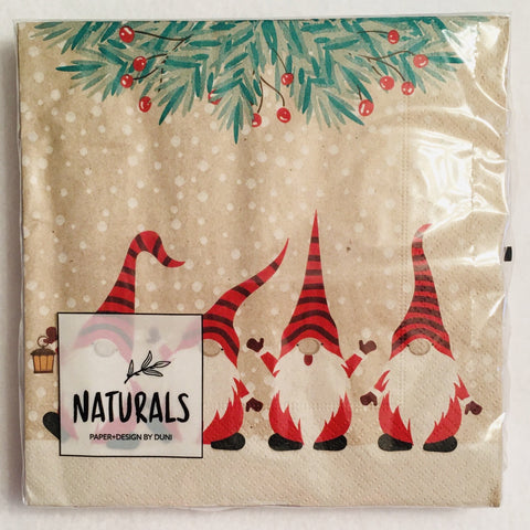Happy Gnomes paper napkins