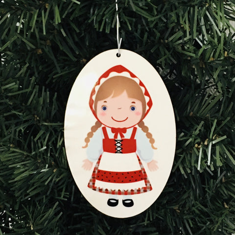 Danish Girl Ornament