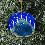 Ceramic Ornament, Eva Melhuish, black cat