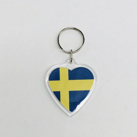 Heart Keyring, Sweden flag