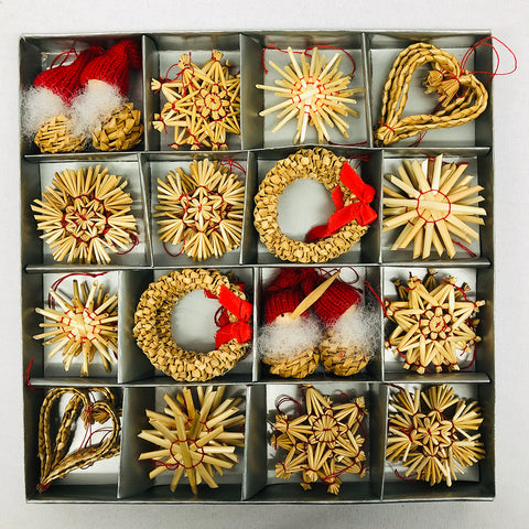 Straw ornament set - 48 pc set.