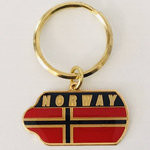 Metal Keyring, Norway flag