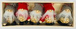 Straw gnome ornaments - Box of 5