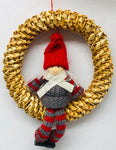 Straw wreath with Gnome