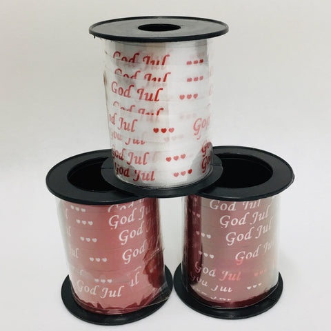 God Jul Curling Ribbon - 3 rolls