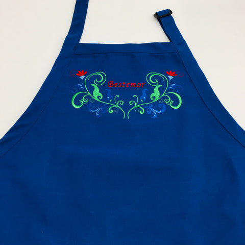 Apron - Embroidered Bestemor