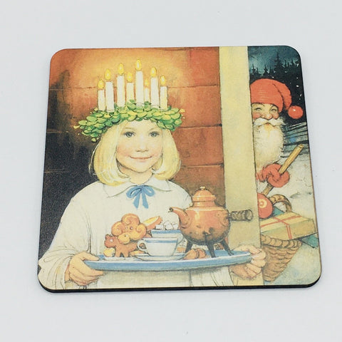 Lucia and Tomte Coaster