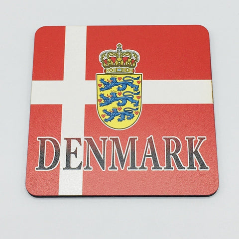 Denmark Flag and Crest Coaster