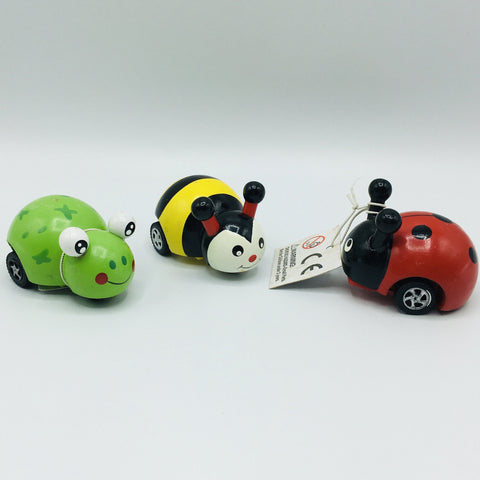 Children's Pull Back Toys - Frog, Bee or Lady bug