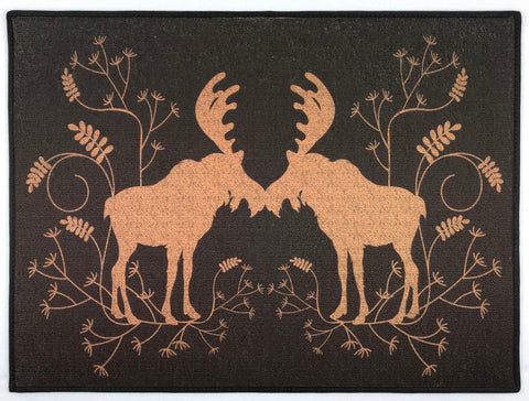 "Brown moose rug 24"" x 18"""