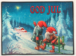 "Blue Sky God Jul rug 24"" x 18"""