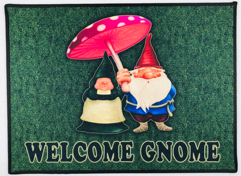 "Welcome Gnome rug 24"" x 18"""