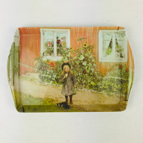 Tray - Carl Larsson Brita with sandwich