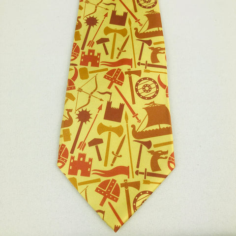 Viking ships & weapons Necktie