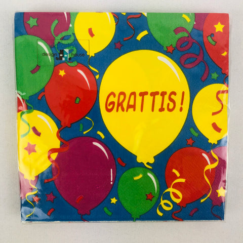 Grattis Celebration paper napkins