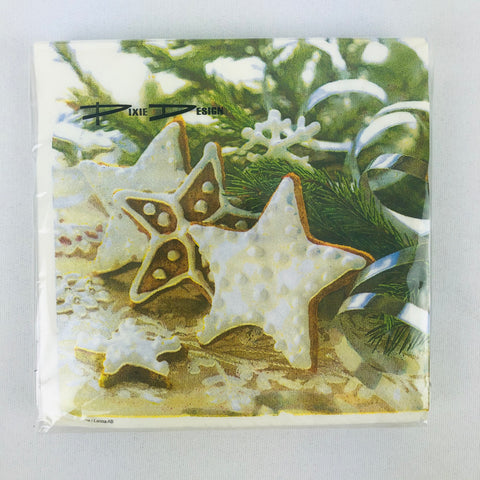 Christmas Star cookie paper napkins