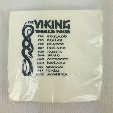 Viking Tour cocktail paper napkins