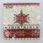 Red Snowflake & Star napkins