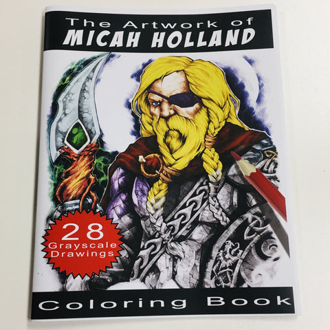 Micah Holland Viking Coloring book