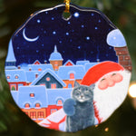 Ceramic Ornament, Eva Melhuish, Cat and Tomte Selfie