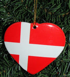 Ceramic heart ornament, Denmark