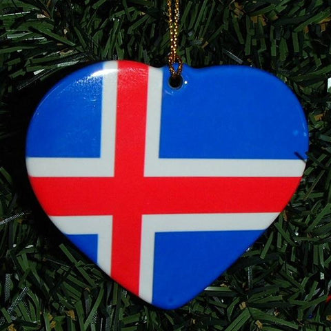 Ceramic heart ornament, Iceland