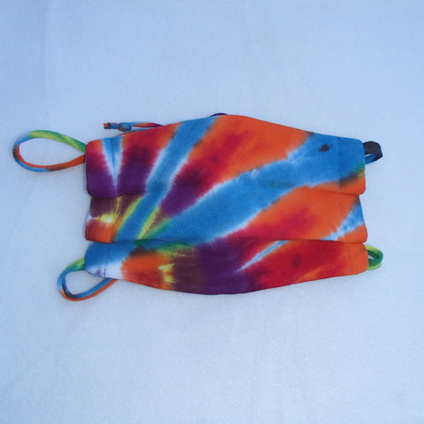 Tie dyed Rainbow color face mask