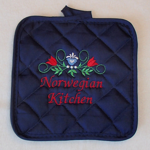 Pot holder - Norwegian Kitchen on navy