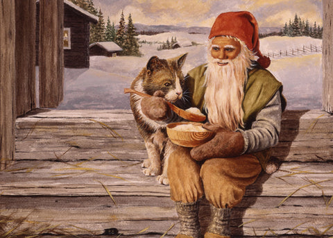 Jan Bergerlind Tomte & Cat Magnet