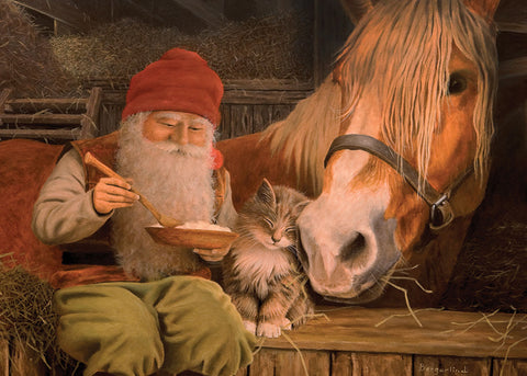 Jan Bergerlind Tomte Kitten & Horse Magnet