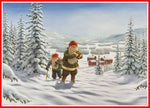 Jan Bergerlind tomte Christmas poster