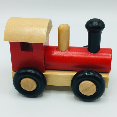 Wood Toy Train Locomotive