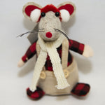 Christmas mouse with plaid jacket